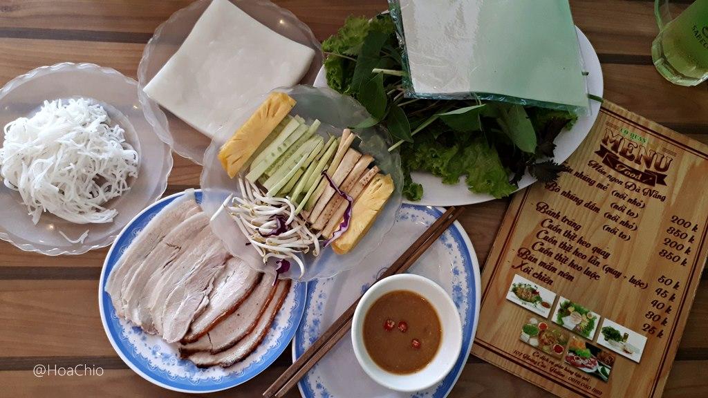 bánh tráng cuốn thịt heo - Hoa Chio