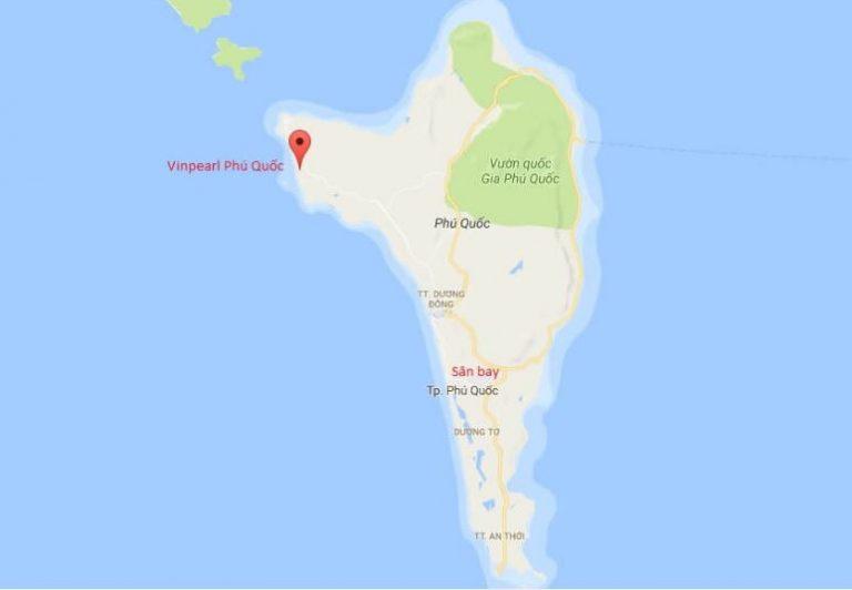 Vị trí Vinpearl Phú Quốc